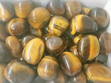 Large Polished Tigers Eye Tumblestone 20 - 25mm Reiki Chakra Healing Crystals