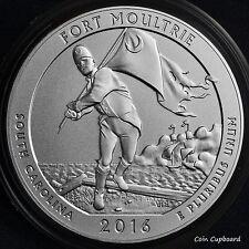2016-P ATB quarter 5 oz FORT MOULTRIE satin finish