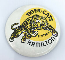 CFL Football PinBack Button Hamilton Tiger Cats 1980s Vintage