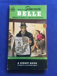 BELLE - FIRST SEPARATE PAPERBACK INSCRIBED BY GEORGES SIMENON TO HIS PUBLISHER