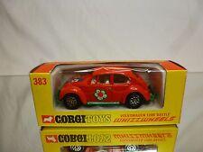 CORGI TOYS 383 VW VOLKSWAGEN 1200 BEETLE - ORANGE 1:43 RARE - EXCELLENT IN BOX