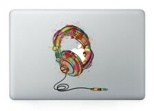 "Colorful Dj Headphones Vinyl Sticker for Apple Macbook Air/Pro/Retina 13""15""17"