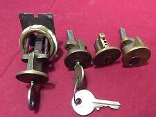 Yale Ori. Peanut Rim Cylinders, Y52 Keyway, Set of 4, 2 with keys - Locksmith
