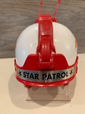 TIM-MEE STAR PATROL HELMET VINTAGE 1978 SPACE AGE RETRO BUCK ROGERS RED & WHITE
