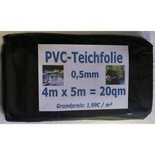 PVC Teichfolie 0,5mm schwarz in  4m x  5m