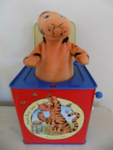 Schylling Disney Winnie The Pooh Tigger Jack in the Box Tin Toy Wind Pop Up