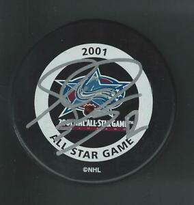 Simon Gagne Signed 2001 NHL All Star Game Official Game Puck Philadelphia Flyers