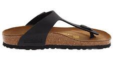 Birkenstock Gizeh Birko-flor Womens Shoes Slides Sandals Anatomical Footbed Black EU 38 - UK L5 Regular