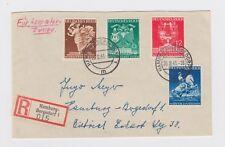 WW2 Hamburg Registered Cover  Vienna Trade Show Commemorative Cancellation