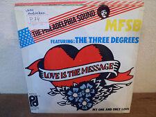 "SP 7"" MFSB - Love is the message - THE PHILADELPHIA SOUND - HOLLAND"