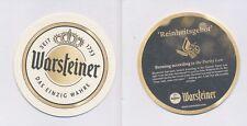 1 WARSTEIN - WARSTEINER  (EXPORT) BIERDECKEL BEERCOASTERS  (19222)