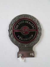 The Ford Dealers fellowship badge. motor club badge. Ford. AA. RAC. car badge.