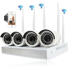 4CH 960P Wireless HD NVR Outdoor WIFI CCTV IP IR-CUT Camera Security System Kit