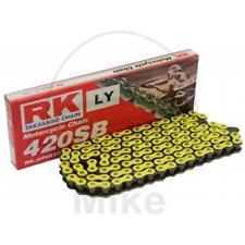 RK Motorradkette neon gelb NG Teilung 420 SB   124 Glieder mit Clipschloss