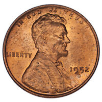 1952-D Over S Lincoln Cent Ch BU, Red Color, FS #1C 021.6 Breen #2206