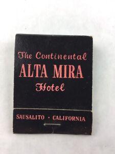 Matchbook The Continental Alta Mira Hotel California w/ Sticks Collectible