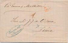 Lettre Bordeaux Gironde pour Lima Pérou Vapor au dos Cover