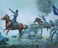 """First to the Guns"" Mort Kunstler Civil War"