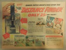 """Quaker Cereal Ad: """"Distance Finder"""" Premium from 1940's 7  x 10 inches"""