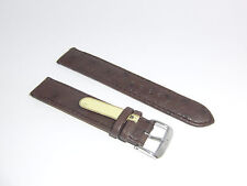 """DI-Modell Genuine Ostrich Leather 19 mm D' BROWN Watch Band """"STRAUSS"""""""