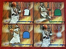 2004 NBA Hoops Supreme Court Patches 4 color Iverson /25 Jerseys Anthony Pierce
