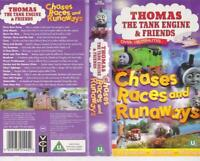 THOMAS THE TANK AND FRIENDS CHASES RACES AND RUNAWAYS 100 MINUTES  PAL VIDEO VHS