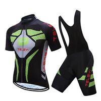 Green MTB Cycling Jersey Bib Shorts Set Men Bicycle Bike clothing Ropa Ciclismo
