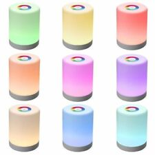LED Night Light RGB Color Bedside Touch Control Smart Dimmer Rechargeable Lamp