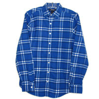 LL Bean Kids Youth Button Down Long Sleeve Flannel Shirt Size 4 Blue Black White