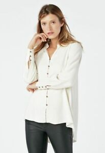 Just Fab Blouse Top Cream Size M New with Tags RRP £36