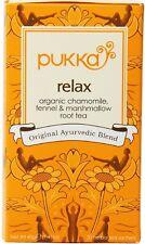 Pukka Relax Organic Chamomile, Fennel - Marshmallow Root Tea 20 ea