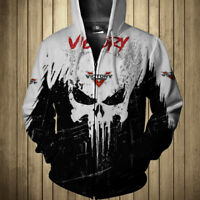 VICTORY MOTORCYCLES-TOP GIFT- Man's T-Shirt 3D- SKULL SO COOL- Best Gift