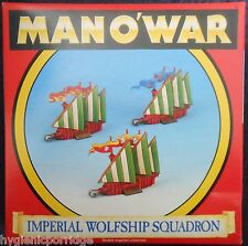 1993 Man O' War Imperial Wolfship Squadron Games Workshop MOW Ship Empire Galley