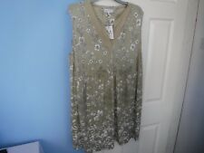 BNWT MATERNITY NEXT WOMAN'S FLORAL GREEN DRESS SIZE UK 20  EUR 48