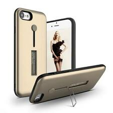 Gold Slide Holder Case for Apple iPhone 7 & 8 - Rubber Band Kickstand Cover USA