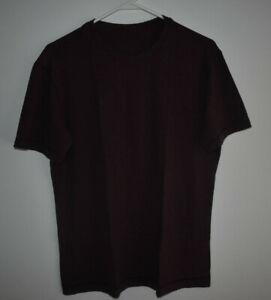 Lululemon Men's Size Large Solid Purple Shirt Activewear Running