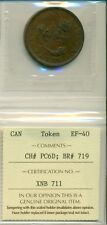 ICCS 1857 Bank of Upper Canada Token One Penny EF-40 CH# PC6D; BR# 719 XNB 711
