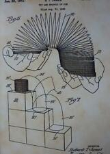 USA Patent Drawing SLINKY toy spring MOUNTED PRINT 1946 Gift