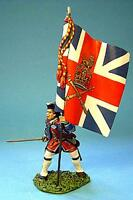 JOHN JENKINS JACOBITE REBELLION BJ-09 BRITISH OFFICER WITH KING'S COLORS MIB