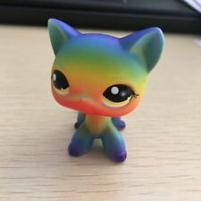 Custom OOAK LPS rainbow cat Hand Painted Figure LITTLEST PET SHOP