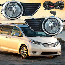 Fog Light Assembly Lamp for 2011-2017 Toyota Sienna /Wire+Switch+Frame+Light