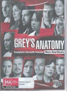 GREY'S ANATOMY Complete 7th Seventh Season 7 (6x DVD Set) NEW & SEALED Free Post