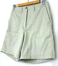 Talbots Womens Chino Shorts Khaki Walking Casual Tan Cotton Vintage Size 8