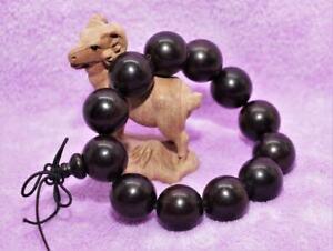 Men''s 20mm Black Ebony Wood Bracelet