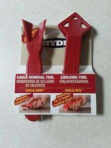 Hyde Tools 43640 Caulk Away Remover and Finisher 2 pack New