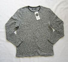 NWT TOPMAN TOPSHOP Extreme Oversized Fit Black White Furry Pullover Sweater Sz M