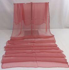 Scarf, Shawl or Wrap Dark Pink Imitation Silk or Chiffon