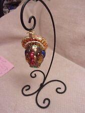 "Old World Christmas Tom Turkey Hand Blown Glass Ornament 3 1/2"""