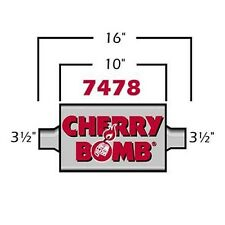 """3.5"""" Extreme Cherry Bomb Muffler 4"""" x 10"""" Oval Center-Center 3.5"""" IN / 3.5"""" OUT"""