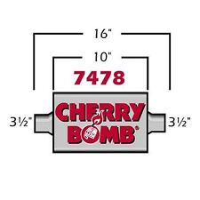 35 Extreme Cherry Bomb Muffler 4 X 10 Oval Center Center 35 In 35 Out